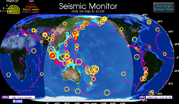 Faultline: Earthquakes (Today & Recent)   Live Maps | Exploratorium