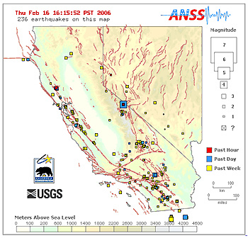 California Nevada Earthquake Map Faultline: Earthquakes (Today & Recent)   Live Maps | Exploratorium