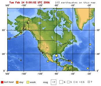 Faultline Earthquakes Today  Recent Live Maps Exploratorium - Us earthquake map
