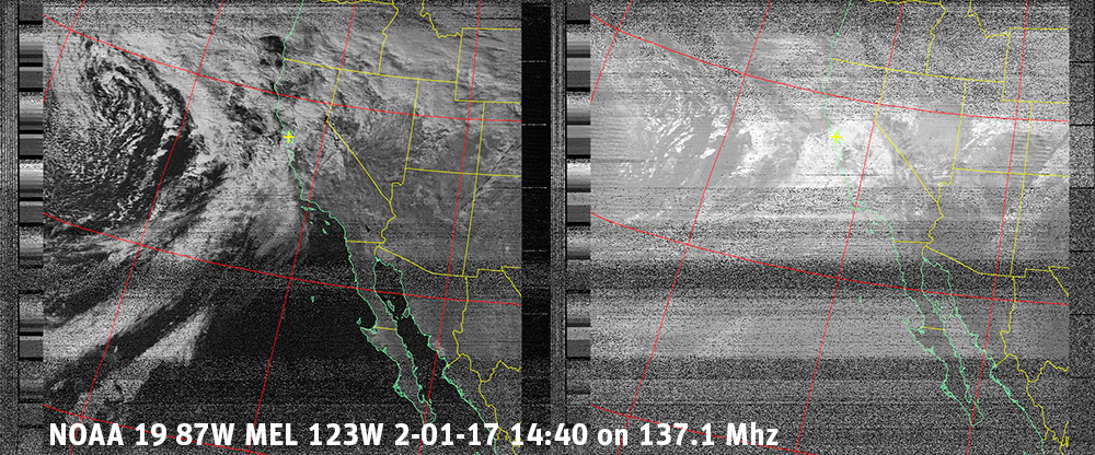 NOAA 19 weather satellite image