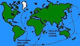 The global thermohaline ocean circulation