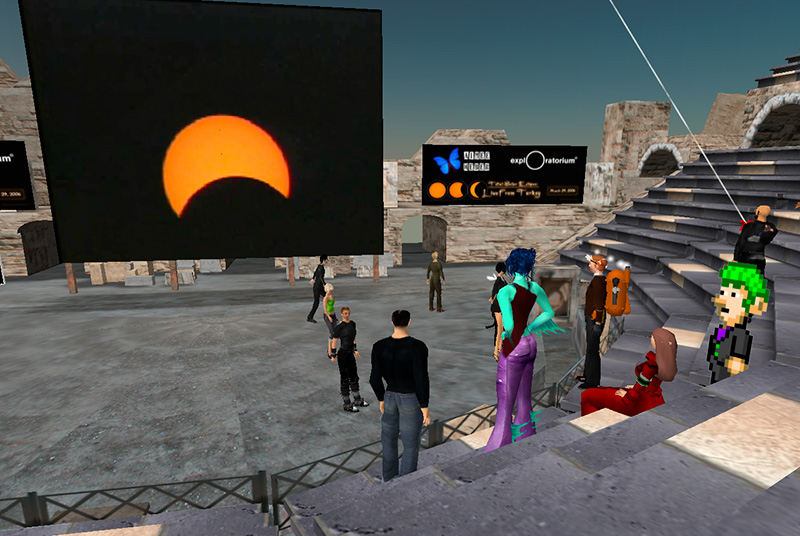 Eclipse Webcast Viewing in Second Life