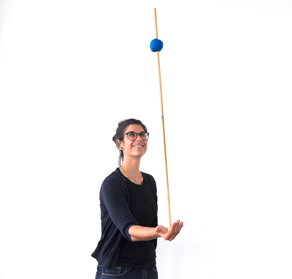 Science activity demonstrating balance and the center of gravity