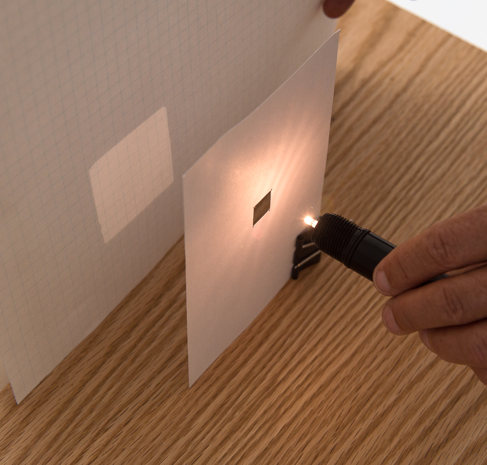Science activity that demonstrates the inverse square law and light intensity