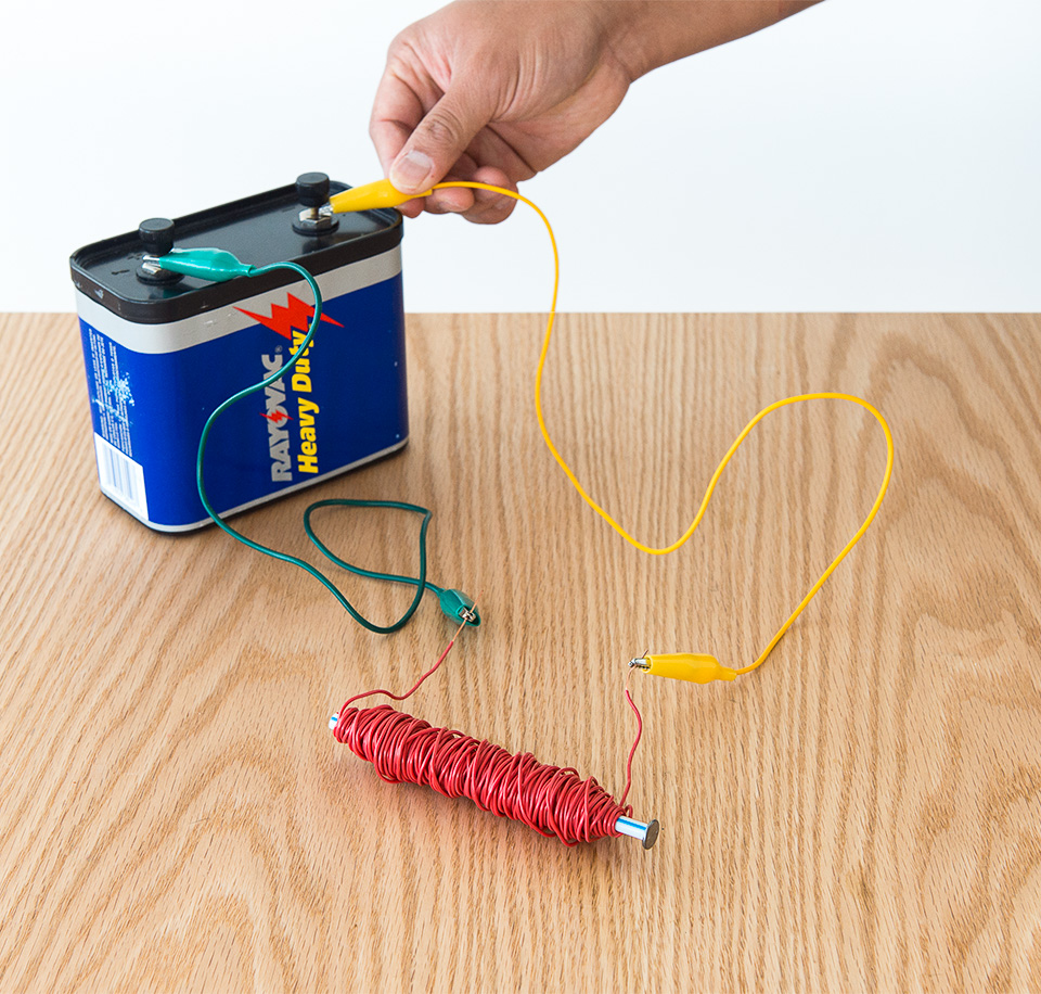 Science activity that explores an electromagnet