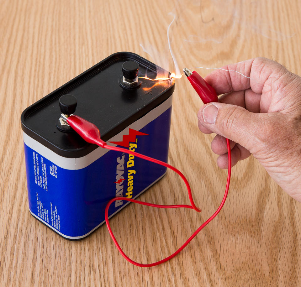 Science activity that demonstrates a short circuit