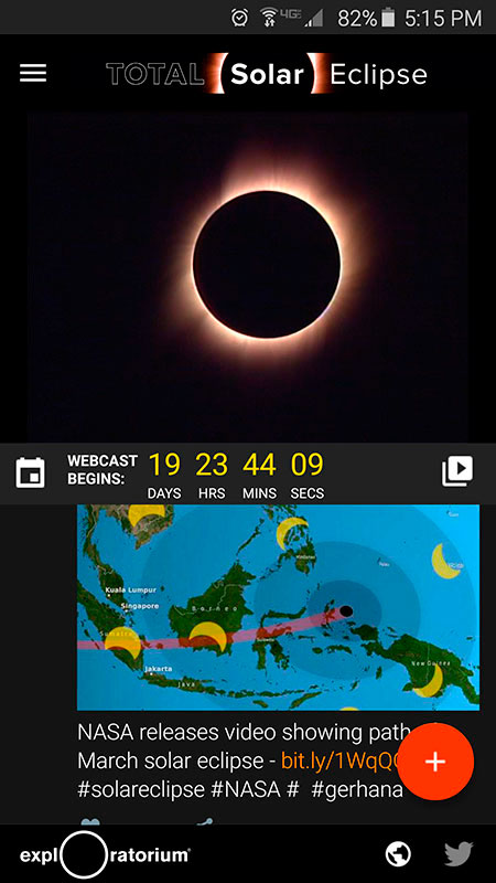 TOTAL Solar Eclipse - Twitter View