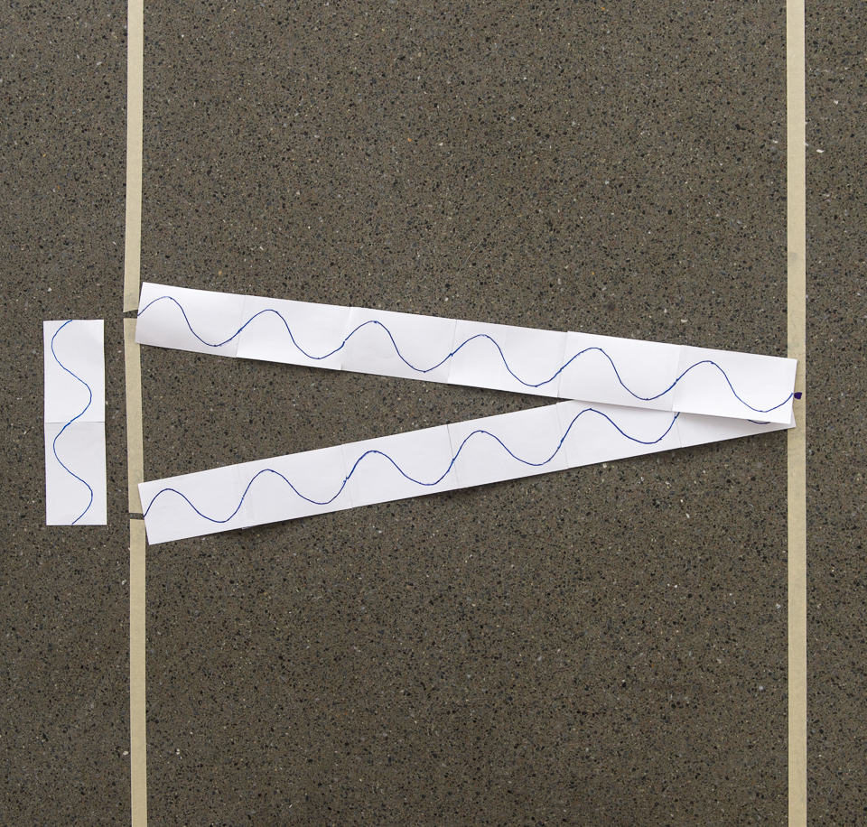 A science activity that demonstrates the two-slit interference phenomenon