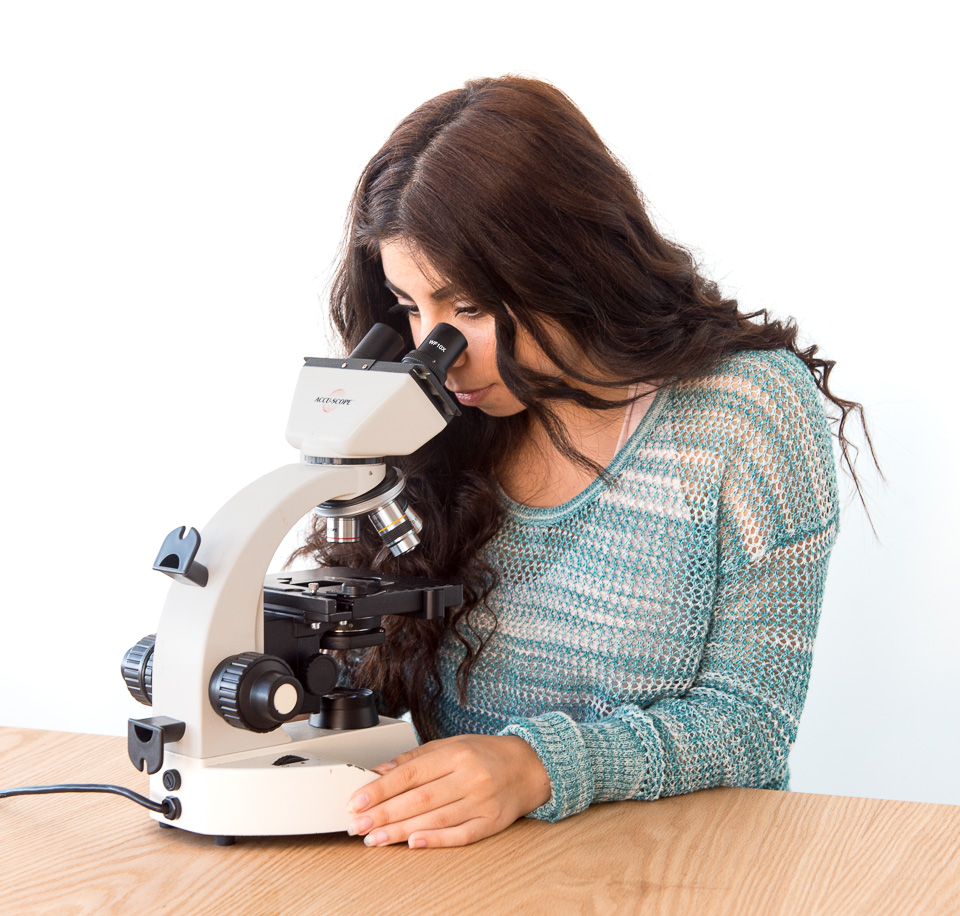 Science activity used to determine the field diameter of a compound microscope