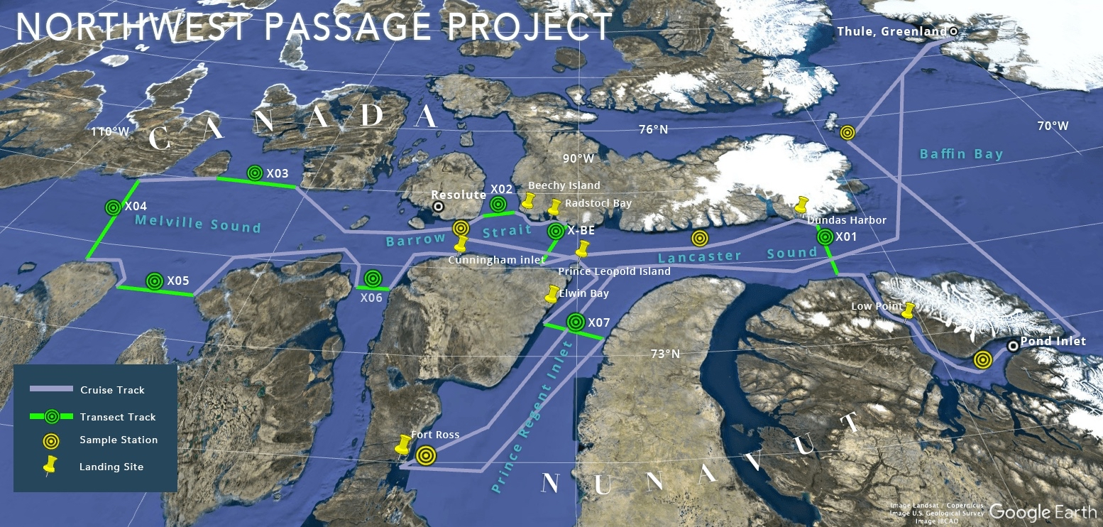 Northwest Passage Expedition Map