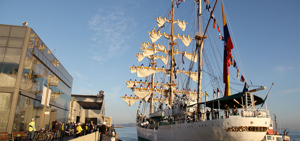 See a Colombian Navy Sailing Ship at Pier 15