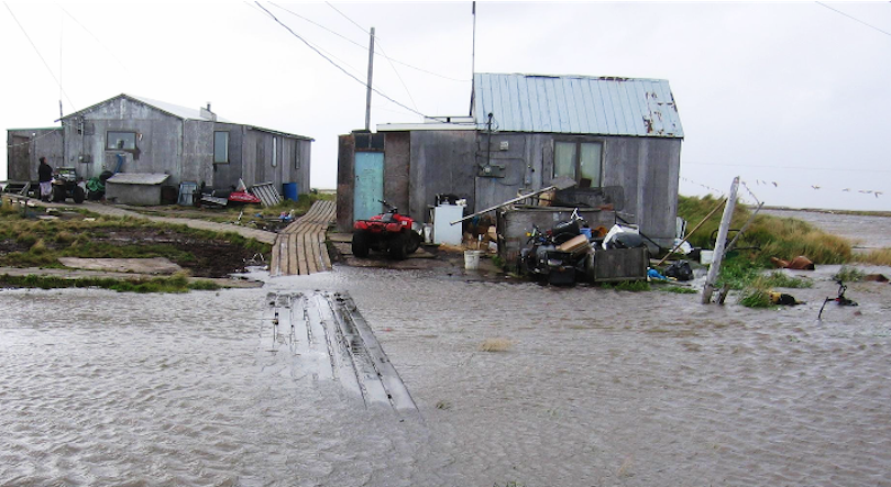 Photo of flooding in Newtok, Alaska