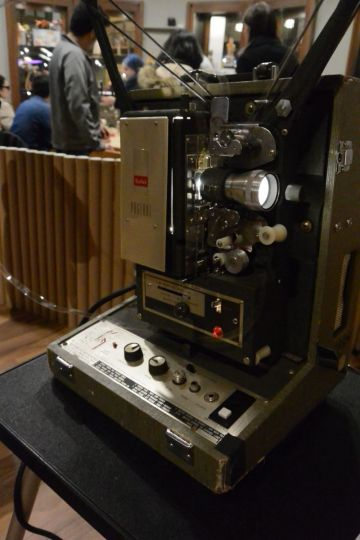 Close up of a 16mm projector