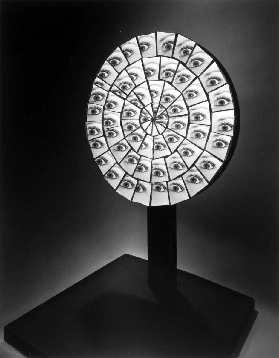 Berenice Abbott photo of parabolic mirrors.