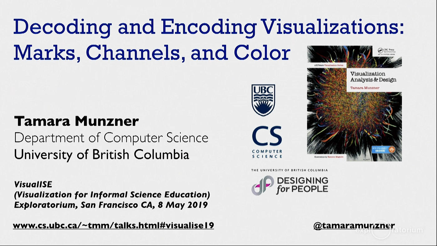 University of British Columbia computer scientist Tamara Munzner describes how research into the individual elements of...