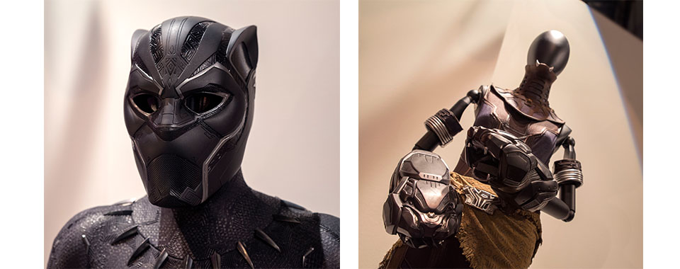 Costumes from Marvel's Black Panther at the Exploratorium
