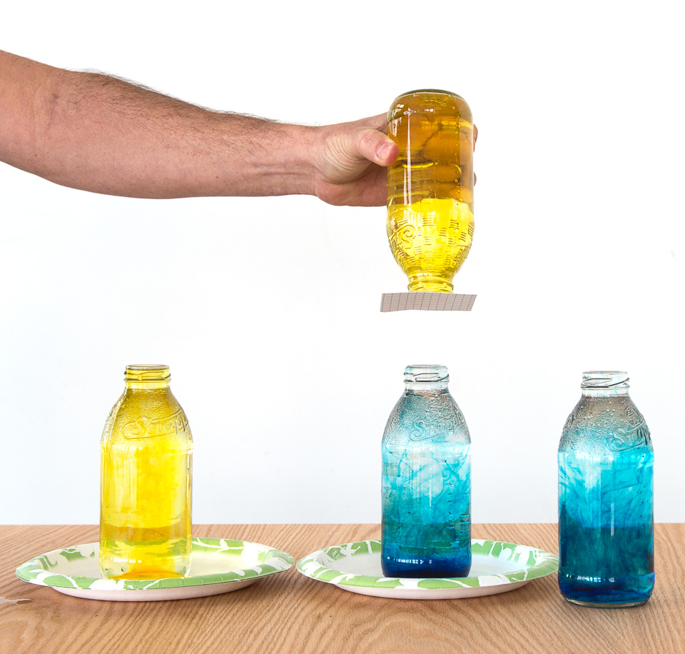 inverted bottles physics chemistry science activity