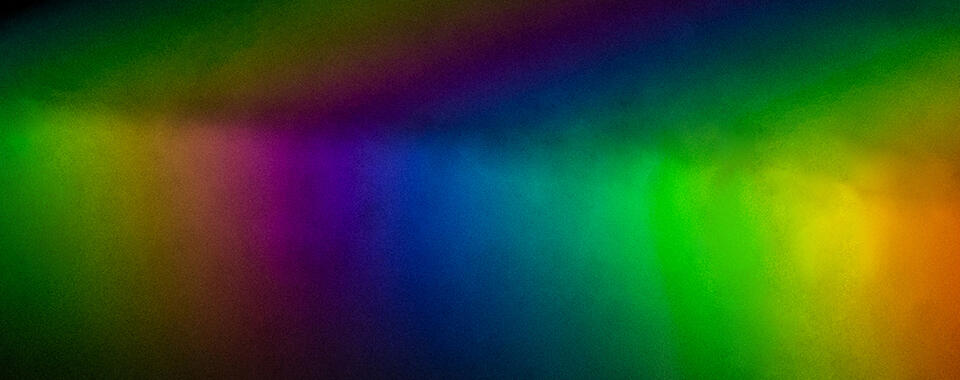Rainbow created by light passing through a prism