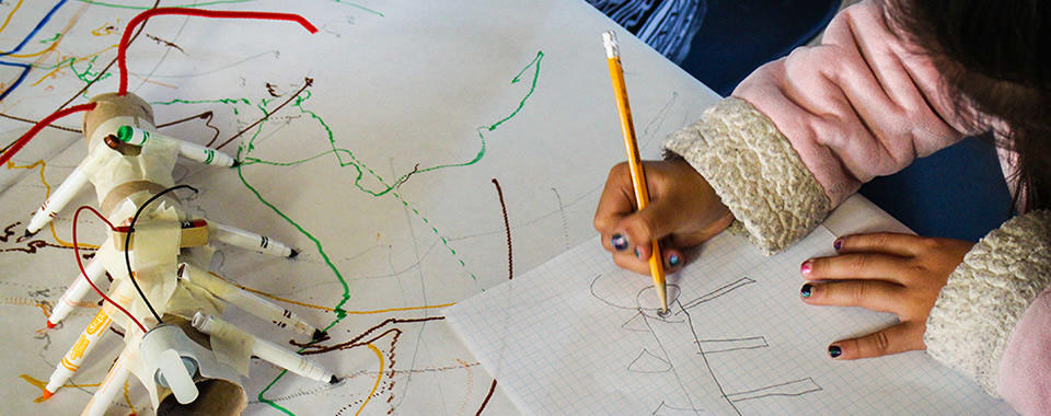 Designing and redesigning scribbling machines in the Tinkering Afterschool Program at Boys & Girls Club, San Francisco