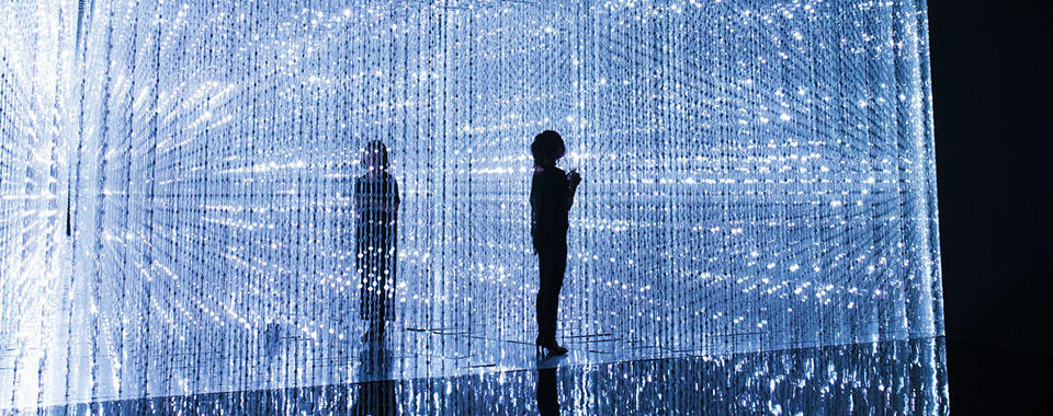 Crystal Universe, 2015. Interactive installation of light sculpture