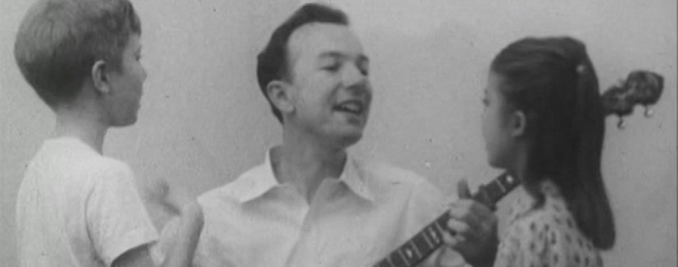 Pete Seeger and children