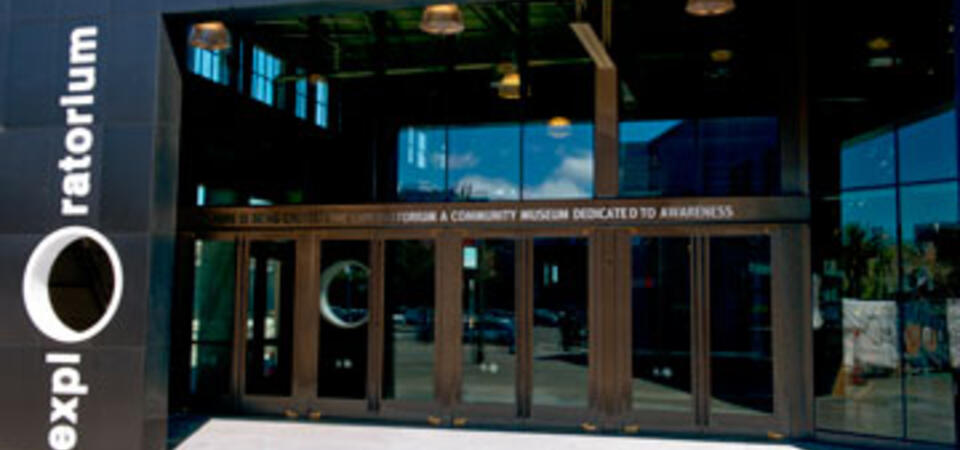 Entrance to the Exploratorium at Pier 15. Image by Amy Snyder © Exploratorium, All rights reserved