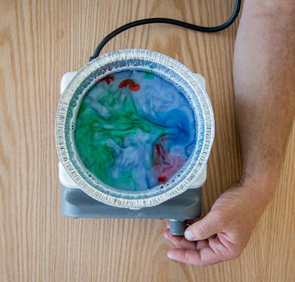Science activity that visualizes convection cells