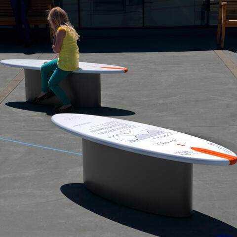 Solar Hour Benches exhibit