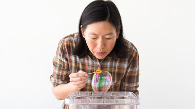 Science activity demonstrating buoyancy and semipermeability in soap bubbles