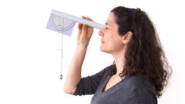 Build an inclinometer, a tool that can measure the height of a distant object, no matter how far away it is