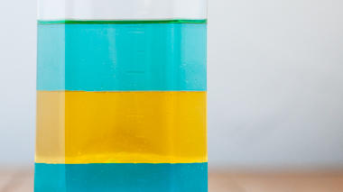 Science activity that demonstrates differences in density