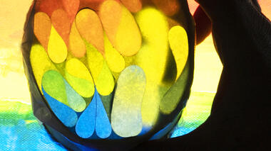 Art & Science Activity to explore reflection and light.