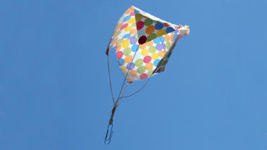 Science activity to make a parachute out of simple materials