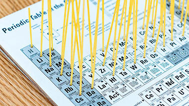 Science activity that models how elements are organized in the periodic table