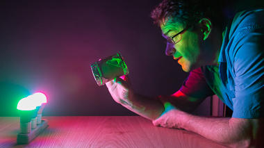 Science activity that demonstrates how light travels through a pinhole viewer