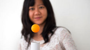 Science activity using a balancing ball to demonstrate the Bernoulli principle