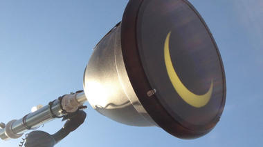 Solar Eclipse viewing with the Sun Gun