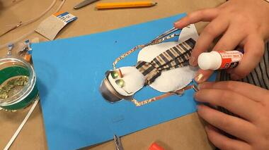 Paper Circuits with Magazine Collages!