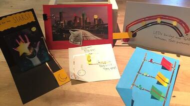 Paper Circuits in After School at Lighthouse