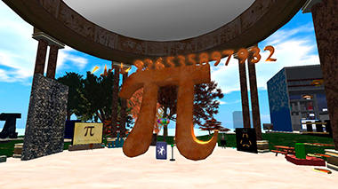 Pi Pavillion in Second Life