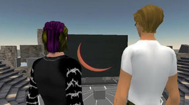 Avatars in Second Life Watching Eclipse - Image by Frans Charming