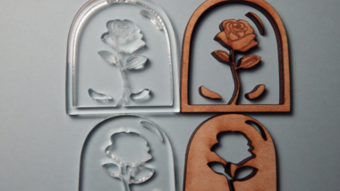 Laser cutting experiments - a wood and acrylic inlay technique