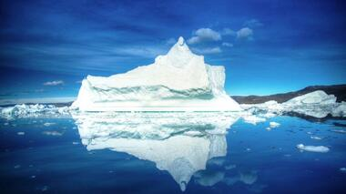 Floating icebergs can be dangerous to ships.