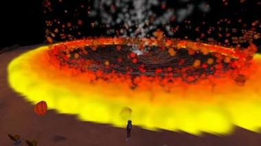 Destination Mars – A Meteor Impact Simulation on the Surface of Mars