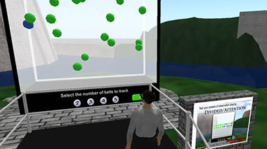 Divided Attention exhibit on Exploratorium Island in Second Life