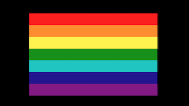 Image of the rainbow Pride flag