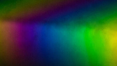 Rainbow produced by light passing through a prism