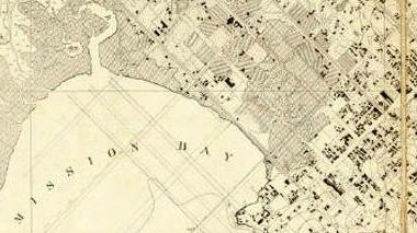 Historic map of Mission Bay