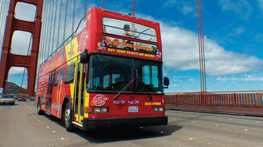San Francisco double decker bus