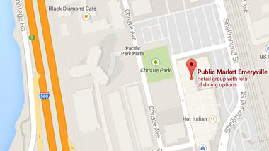 Map of Public Market Emeryville
